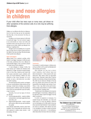 Eye Allergies in children